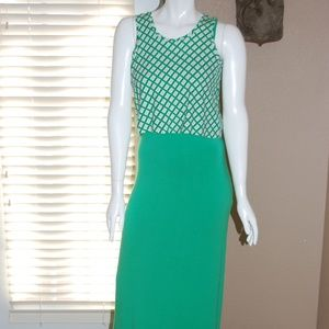 NWT Charming Charlie Green White Maxi Removal Top